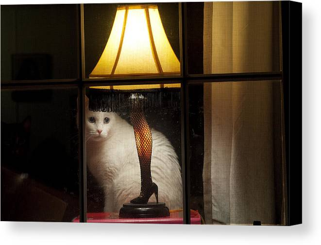 Leg Lamp Canvas Print featuring the photograph My Major Award by Kenneth Albin