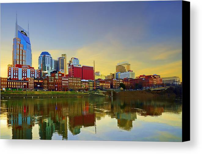 Downtown Canvas Print featuring the photograph Nashville Tennessee by Steven Michael