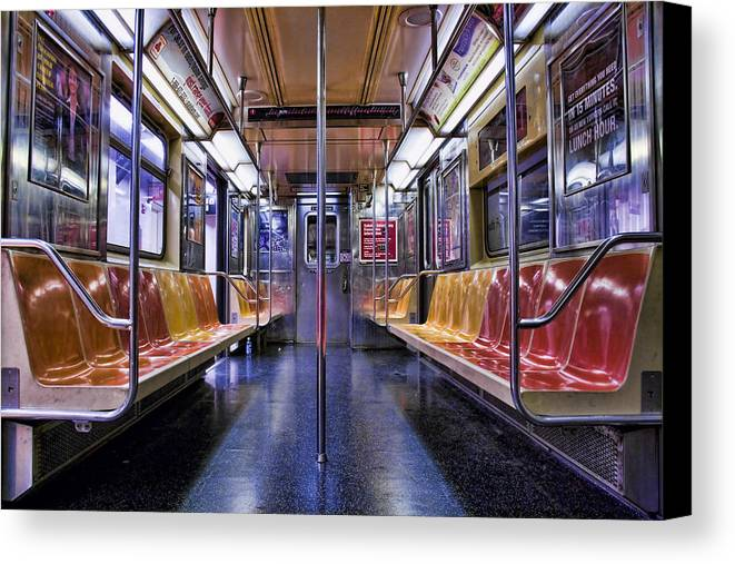 Subway Canvas Print featuring the photograph Nyc Subway by Kelley King