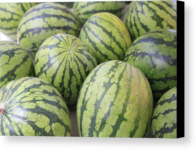 Horizontal Canvas Print featuring the photograph Organic Watermelon by Wendy Connett