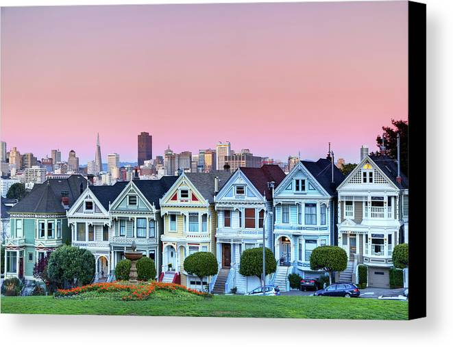 Horizontal Canvas Print featuring the photograph Painted Ladies At Dusk by Photo by Jim Boud