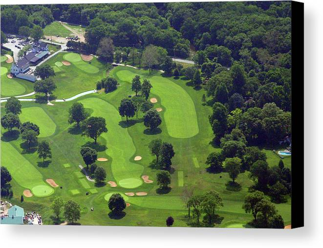Philadelphia Cricket Club Canvas Print featuring the photograph Philadelphia Cricket Club Wissahickon Golf Course 1st And 18th Holes by Duncan Pearson