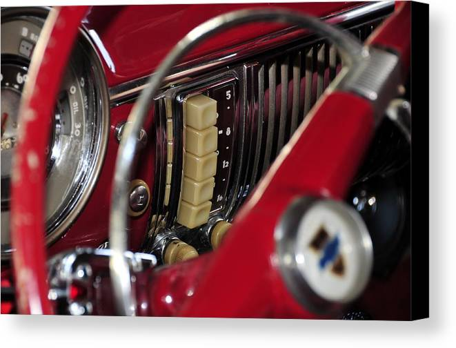 Antic Car Canvas Print featuring the photograph Push Buttons by David Lee Thompson