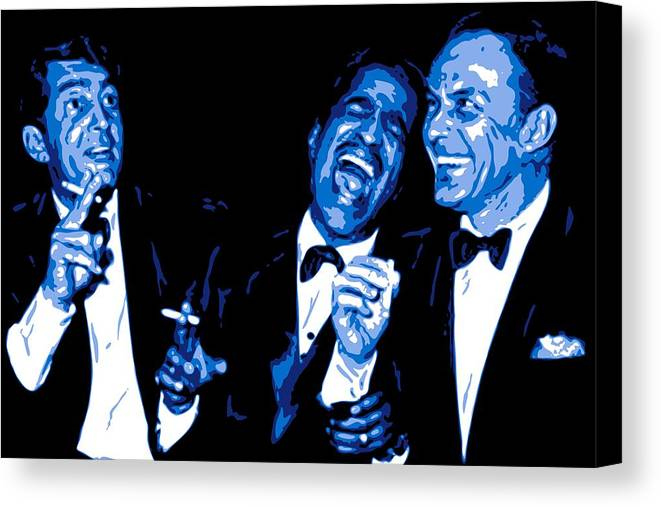 Frank Sinatra Canvas Print featuring the digital art Rat Pack At Carnegie Hall by DB Artist