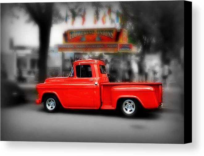 Red Truck Canvas Print / Canvas Art by Perry Webster
