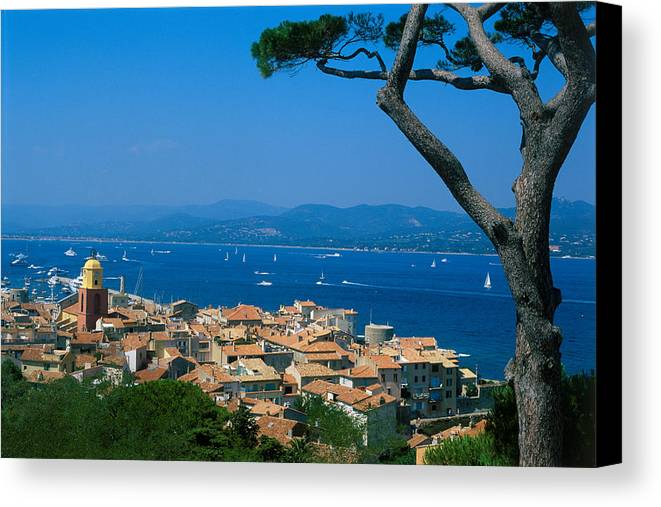 Horizontal Canvas Print featuring the photograph Saint-tropez - Provence by Martial Colomb