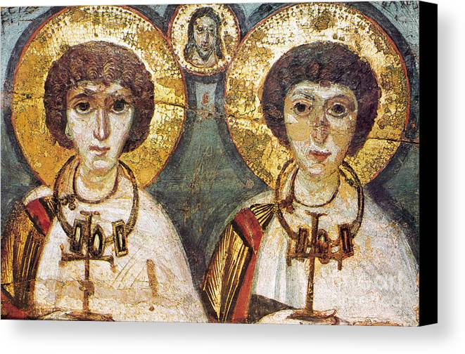 7th Century Canvas Print featuring the photograph Saints Sergius And Bacchus by Granger