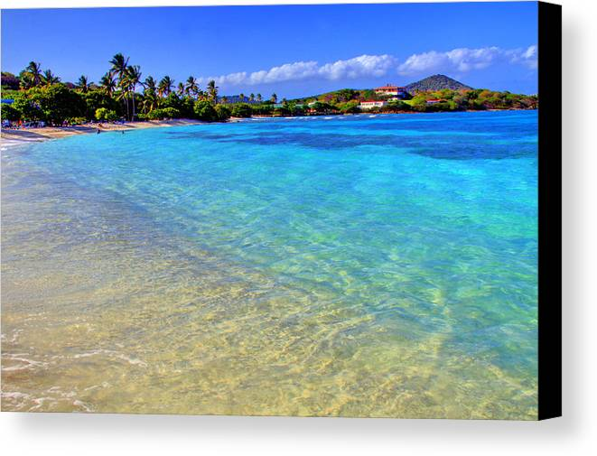 Beach Canvas Print featuring the photograph Sapphire Glow by Scott Mahon