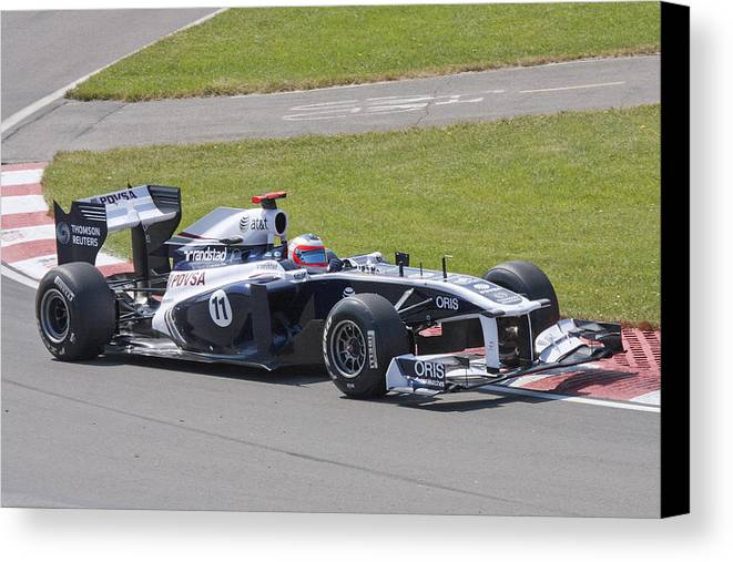 Formula 1 Canvas Print featuring the photograph Sauber by Art Ferrier