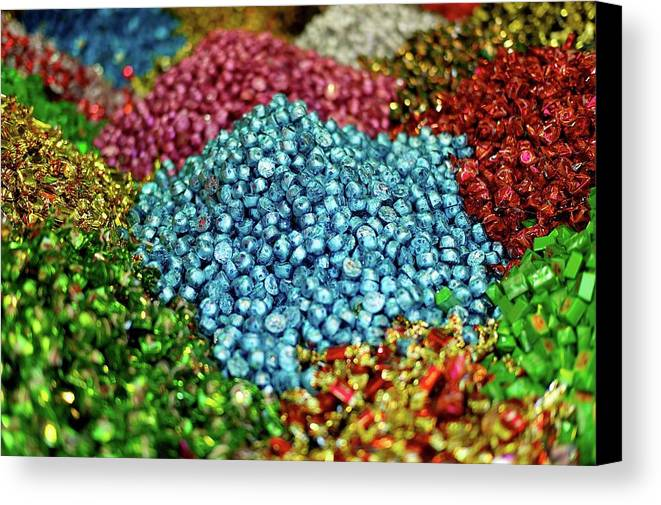Horizontal Canvas Print featuring the photograph Shiny Sweets In Spice Market by Image by Damian Bettles