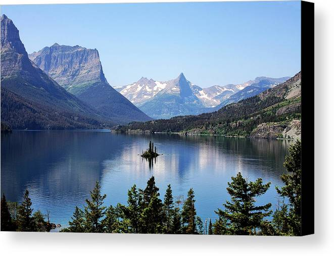 St Mary Lake Canvas Print featuring the photograph St Mary Lake - Glacier National Park Mt by Christine Till