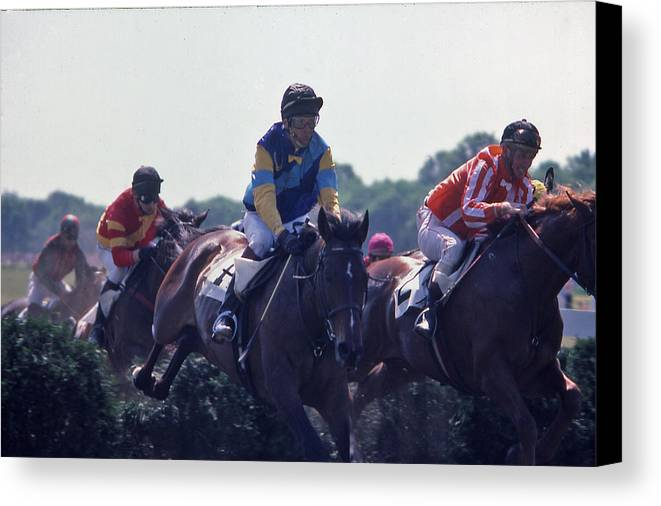 Steeplechase Canvas Print featuring the photograph Steeplechase - 3 by Randy Muir