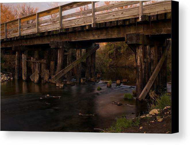 Bike Canvas Print featuring the photograph Sugar River Trestle Wisconsin by Steve Gadomski