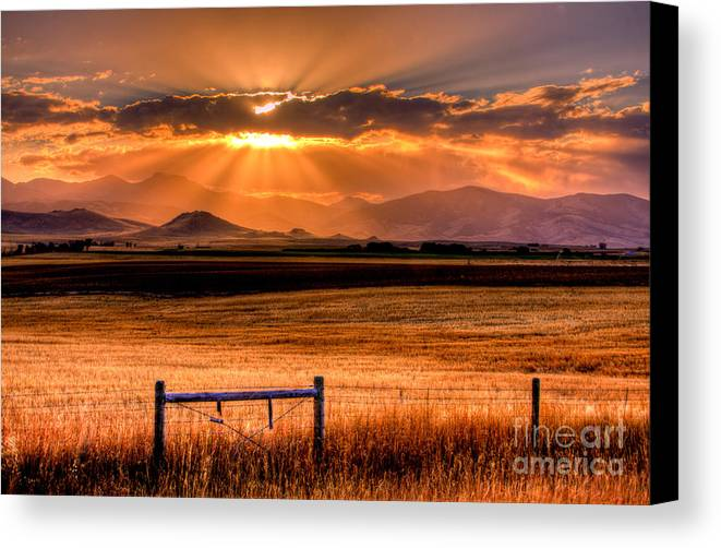 Setting Canvas Print featuring the photograph Sun Sets On Summer by Katie LaSalle-Lowery