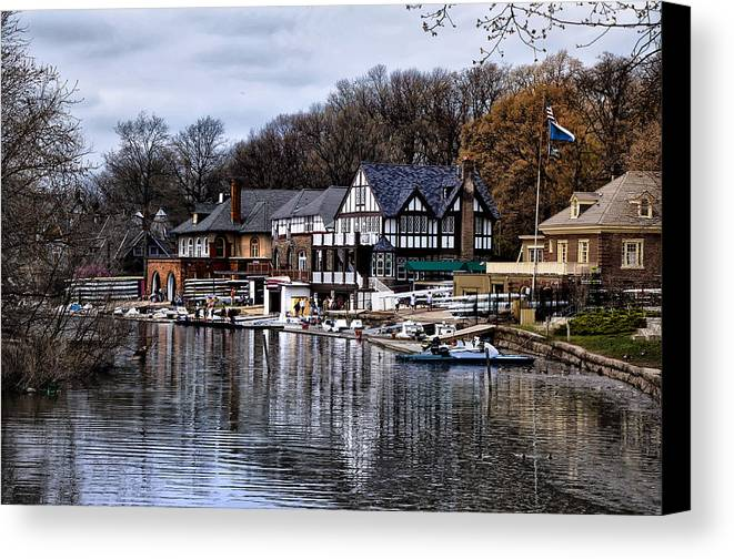 Docks Canvas Print featuring the photograph The Docks At Boathouse Row - Philadelphia by Bill Cannon