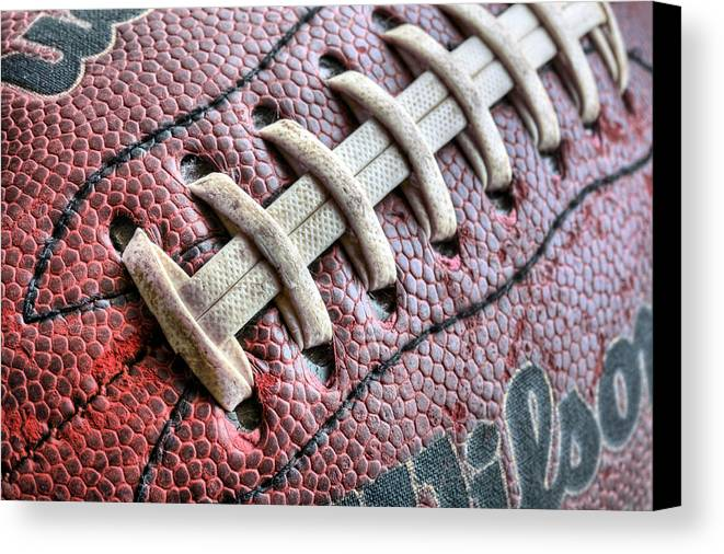 Football Canvas Print featuring the photograph The Path by JC Findley