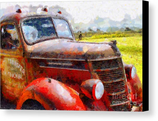 Transportation Canvas Print featuring the photograph The Rusty Old Jalopy . 7d15509 by Wingsdomain Art and Photography