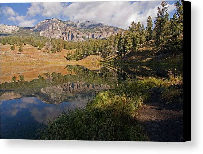 Horizontal Canvas Print featuring the photograph Trout Lake, Yellowstone National Park by DBushue Photography