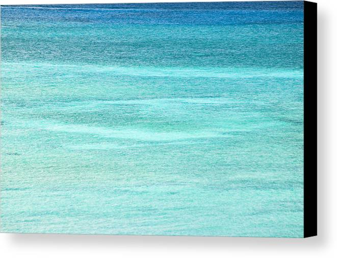 Nobody Canvas Print featuring the photograph Turquoise Blue Carribean Water by James Forte