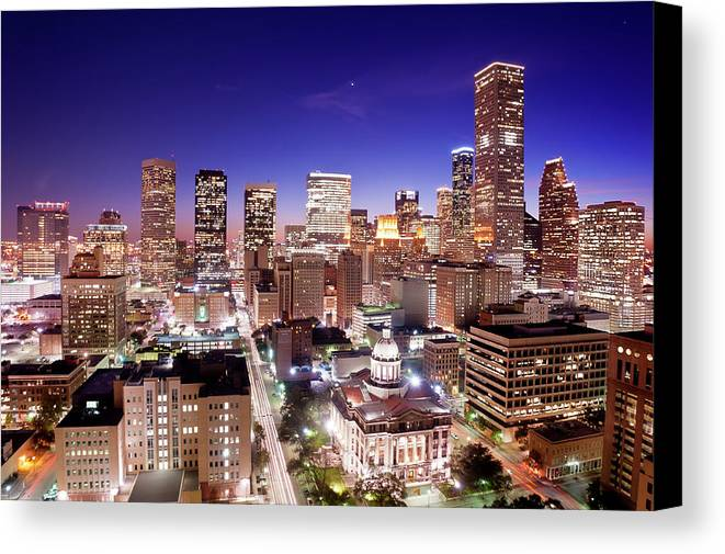 Horizontal Canvas Print featuring the photograph View Of Cityscape by jld3 Photography