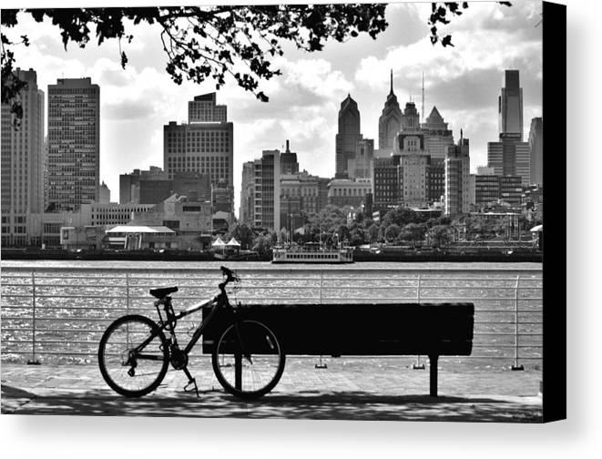 Philadelphia Canvas Print featuring the photograph View Of Philadelphia by Andrew Dinh