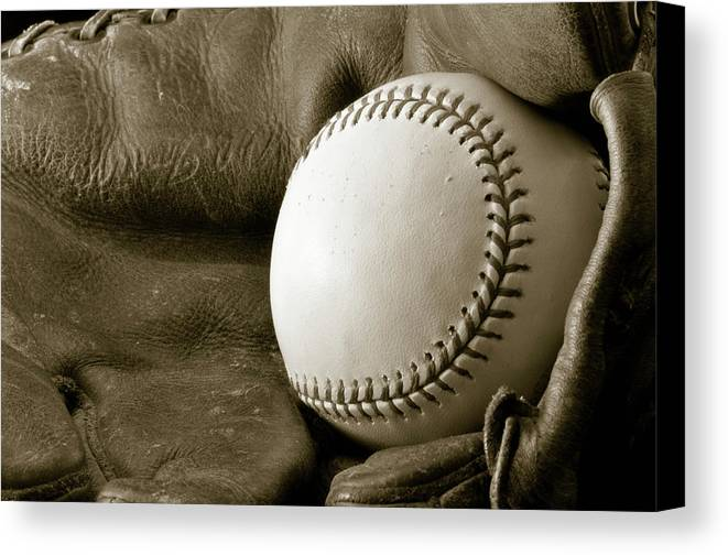 Baseball Canvas Print featuring the photograph Vintage Glove by Shawn Wood