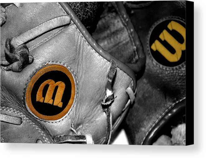 Baseball Canvas Print featuring the photograph Wilson 2 by Jame Hayes