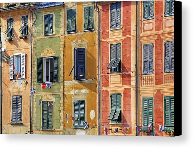 Portofino Canvas Print featuring the photograph Windows Of Portofino by Joana Kruse