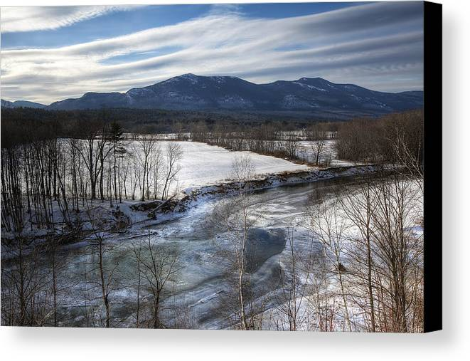 North Conway Canvas Print featuring the photograph Winter In North Conway by Eric Gendron
