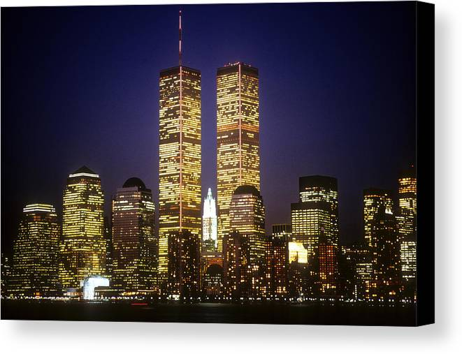 Manhattan Canvas Print featuring the photograph World Trade Center by Gerard Fritz