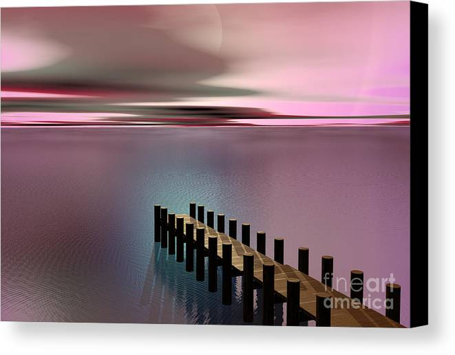Storm Canvas Print featuring the painting A Perfect Calm by Barbara Milton