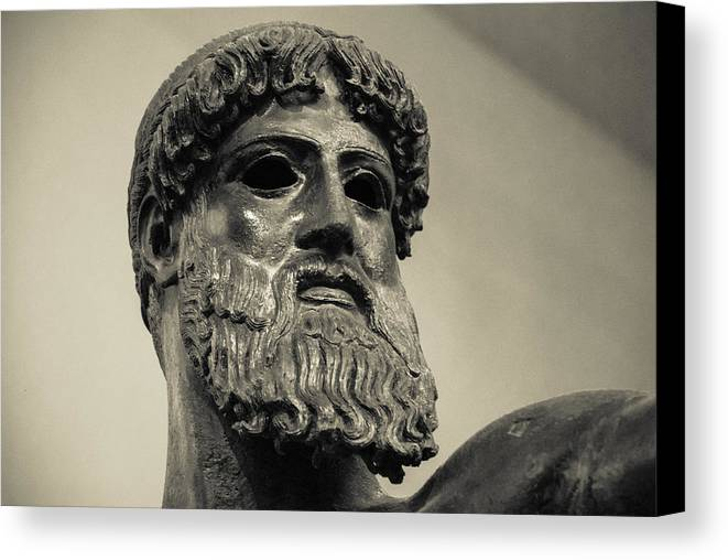 Zeus Canvas Print featuring the photograph Artemision Zeus by David Waldo