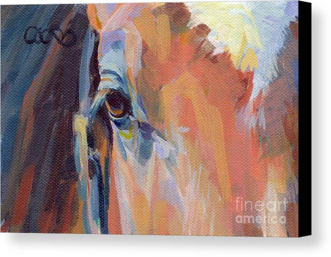 Thoroughbred Canvas Print featuring the painting Billy by Kimberly Santini