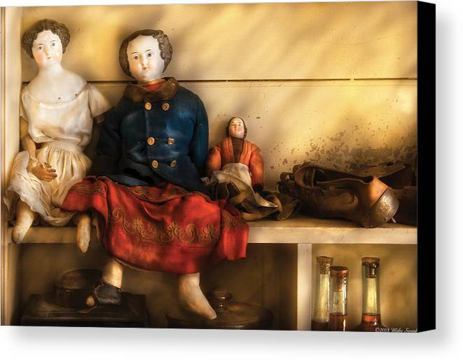 Savad Canvas Print featuring the photograph Children - Toys - Assorted Dolls by Mike Savad