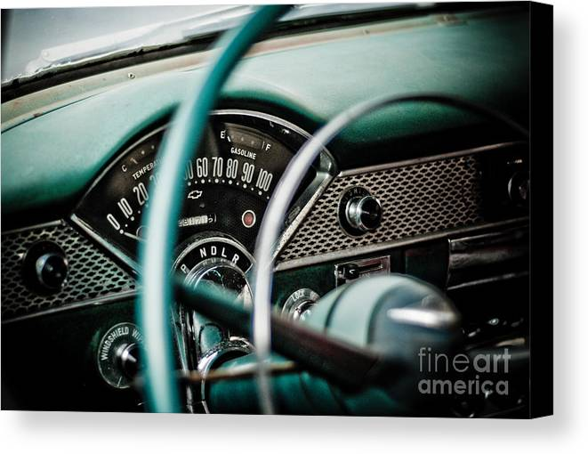 Car Canvas Print featuring the photograph Classic Interior by Jt PhotoDesign