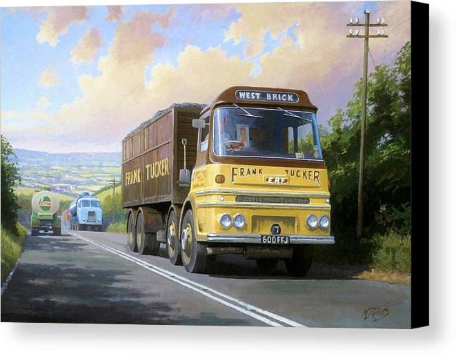united Kingdom Canvas Print featuring the painting Frank Tucker's Erf. by Mike Jeffries