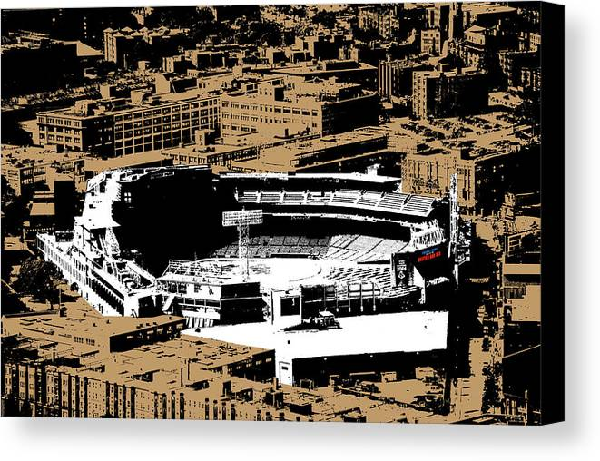 Baseball Canvas Print featuring the photograph Green Monster by Charlie Brock