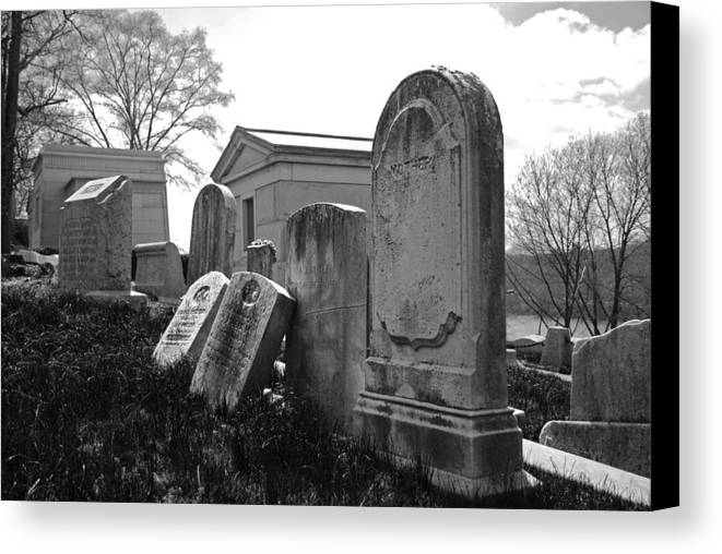 Cemetery Canvas Print featuring the photograph Historic Cemetery by Jennifer Ancker
