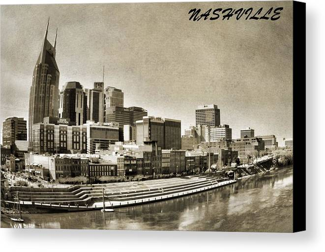 Nashville Skyline Canvas Print featuring the photograph Nashville Tennessee by Dan Sproul