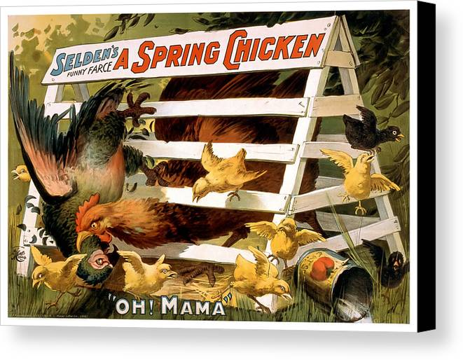 Playbill Canvas Print featuring the mixed media Oh Mama by Terry Reynoldson