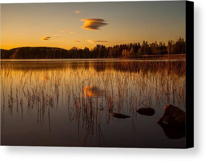 Landscape Canvas Print featuring the photograph Powerful Peace by Rose-Maries Pictures