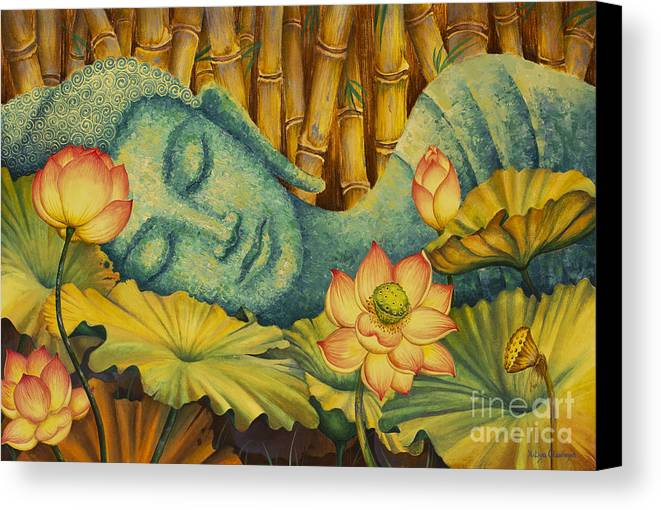 Reclining Buddha Canvas Print Canvas Art By Yuliya Glavnaya