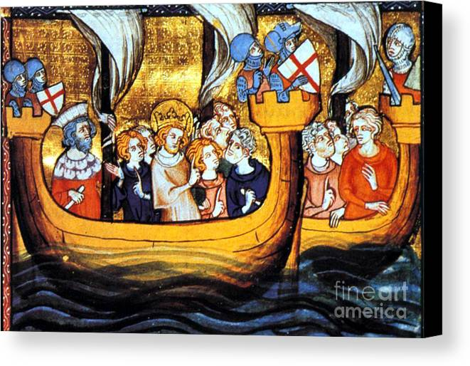 Navigation Canvas Print featuring the photograph Seventh Crusade 13th Century by Photo Researchers