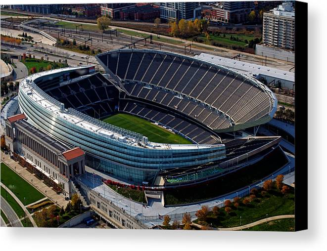 Soldier Field Canvas Print featuring the photograph Soldier Field Chicago Sports 06 by Thomas Woolworth