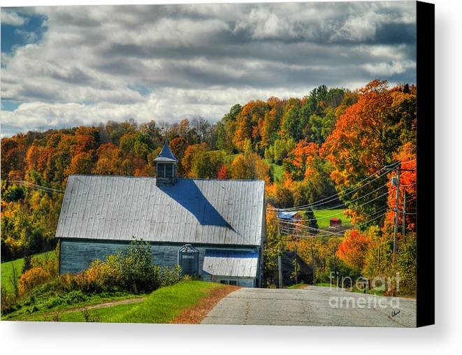 Maine Scenic Photography Canvas Print featuring the photograph Western Maine Barn by Alana Ranney