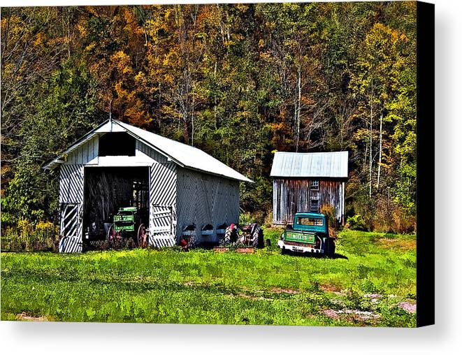 West Virginia Canvas Print featuring the photograph Country Life by Steve Harrington