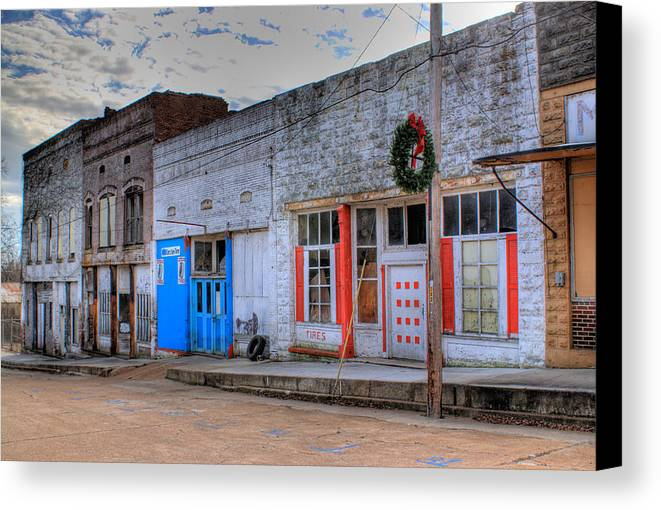 Abandoned Canvas Print featuring the photograph Abandoned Main Street by Douglas Barnett