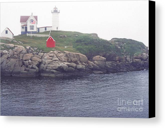 Cape Neddick Lighthouse Canvas Print featuring the photograph Cape Neddick Lighthouse by Thomas R Fletcher