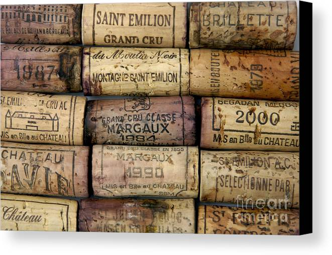 Bouchons Canvas Print featuring the photograph Corks Of French Wine by Bernard Jaubert