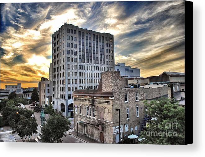 Appleton Canvas Print featuring the photograph Downtown Appleton Skyline by Mark David Zahn